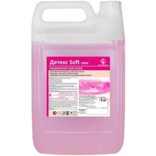 Детекс Soft кондиционер для белья (розовый), кан. 5 л, арт.1032