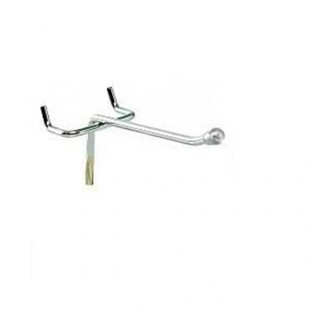 Крючок для перфорации одинарный 100мм (25/50) арт. SH504-100SX
