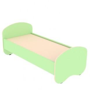 Кровать детская ЛДСП 1400х600 мм, арт. КД-1.2 (САЛАТОВАЯ)