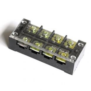 Блок зажимов винтовой на 4 контакта (4504)