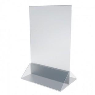 Подставка акрил, нижняя часть 2мм, верхняя 1,8мм, 297х210мм, арт. ACR-menu-Holder А4