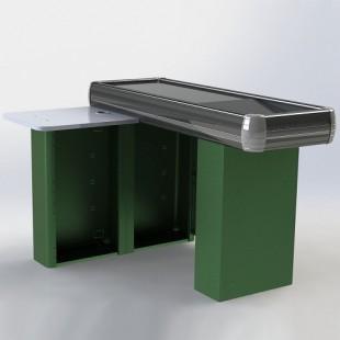 Кассовый бокс МИНИМАРКЕТ 1500х500х900мм, тумба кассира, накопитель арт. MM-1500