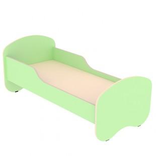 Кровать детская ЛДСП с бортиками 1400х600, арт. КД-1.3 (САЛАТОВАЯ)