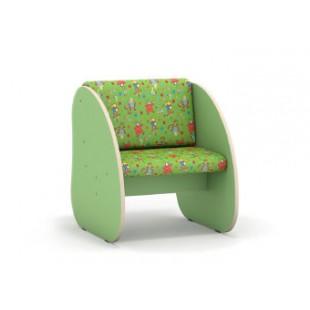 Кресло (флок) 482х550х575мм ЛДСП салотовый