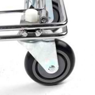 Тележка покупательская STA080-BX Standard с детским сиденьем красная (780х510х950 мм, 80л, колеса 100 и 125 мм. полиуретан)