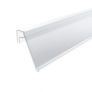 Ценникодержатель для крепления на корзины и дисплеи (уг. накл. 25°) 1000х39мм арт. KE39-1000, в упак. 50шт.прозрачный