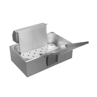 Аппарат для жарки чебуреков и пирожков АЖЧП-1-ИТ настольный (830х470х300 мм, на 7л масла, 3 кВт, 220В)