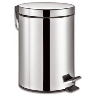 Ведро-контейнер для мусора с педалью ЛАЙМА Classic, 12 л