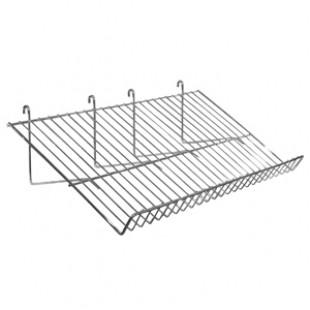 18116S \ Полка наклонная на торговую решетку (сетку)