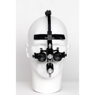 ITS-12 Бестеневой налобный осветитель в комплекте с бинокулярами ITS-x Pro (Китай)