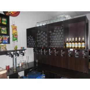 Стеллаж Стенка СССР для магазина живого пива