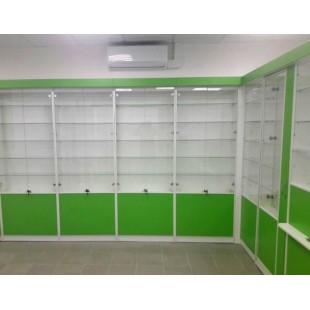 """Витринный шкаф """"Альен"""" для аптеки"""