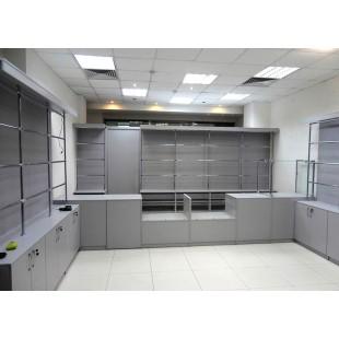 """Комплект мебели """"Grey day"""" для магазина оптики"""