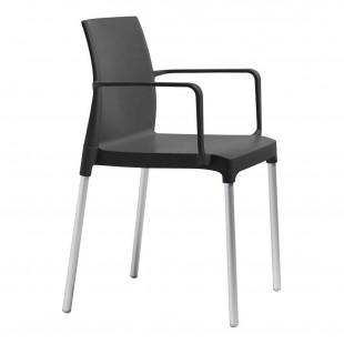 Кресло пластиковое Chloe Mon Amour, антрацит