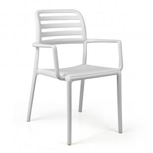 Кресло пластиковое Costa, белый