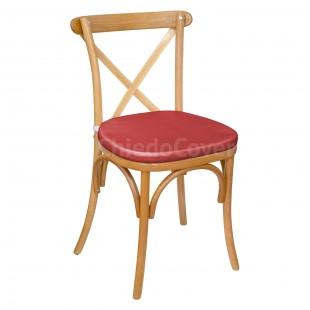Подушка 01 для стула Кроссбэк, 3см, красная