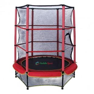 Батут каркасный Perfetto Sport 5 диаметром 140 сантиметров с сеткой