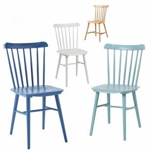 Комплект Такер, 4 стула синий, голубой, белый, бук