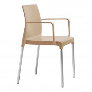 Кресло пластиковое Chloe Mon Amour, тортора