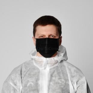 Защитная маска для лица черная