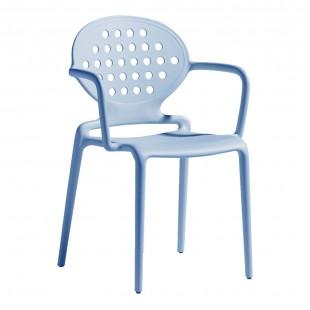 Кресло пластиковое Colette, голубой