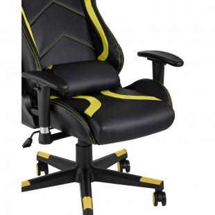 Кресло игровое TopChairs Cayenne желтое