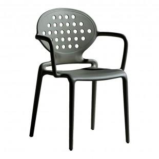 Кресло пластиковое Colette, антрацит