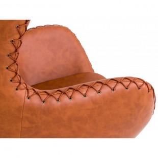 Кресло Egg экокожа, коричневое