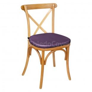 Подушка 01 для стула Кроссбэк, 3см, фиолетовая