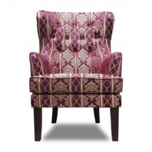 Кресло Альба, красный, с узором