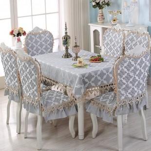 Комплект для стола и стульев, клетчатый