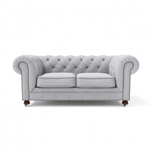 Диван-кровать Chesterfield Lux двухместный раскладной серый