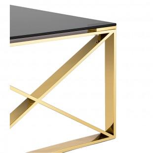 Журнальный стол 120*60 Кросс золото стекло smoke
