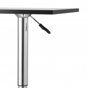 Барный стол Квадро черный регулируемый