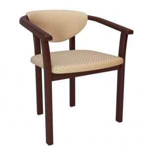 Кресло Алексис, черный - корона бежевая
