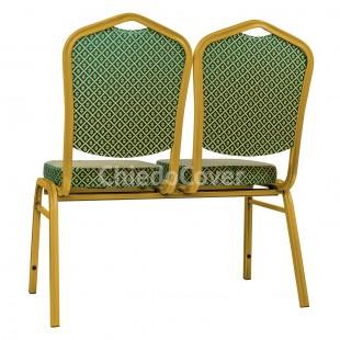 Секция стульев Хит - золото, ромб зеленый