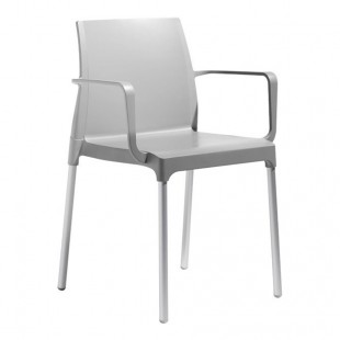 Кресло пластиковое Chloe Mon Amour, свтело-серое