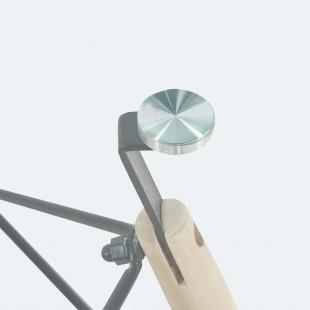 Стол Eames DSW стеклянный 80см