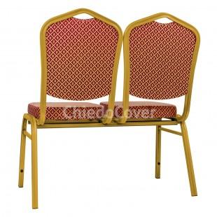 Секция стульев Хит - золото, ромб красный