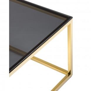 Журнальный стол 120*60 Таун золото стекло smoke