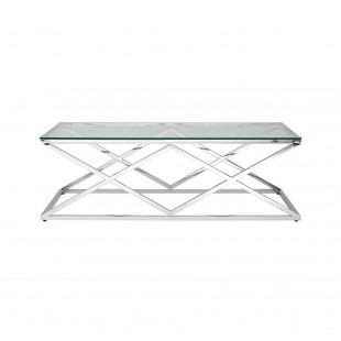 Журнальный стол Инсигния 120 x 60 серебро