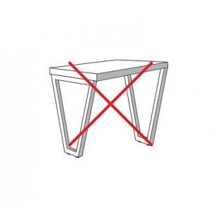Опора для стола V-образная, темная