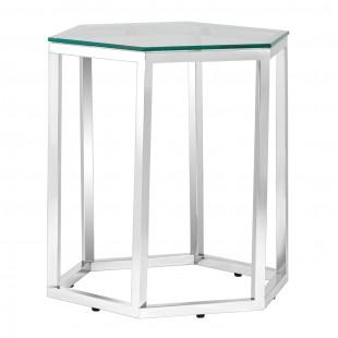 Журнальный стол Гекс, серебро