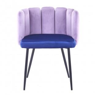 Кресло Карнавал сиреневое + синее