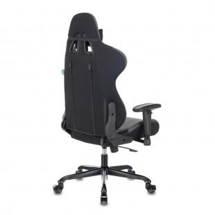 Кресло игровое 771N/GREY-BL две подушки, экокожа