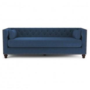 Диван-кровать Chesterfield Florence трехместный раскладной голубой