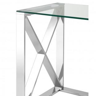 Журнальный стол 40*40 Кросс серебро