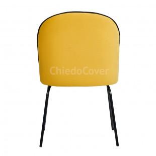 Стул Тони, желтый / черный вельвет, черные ножки металлические