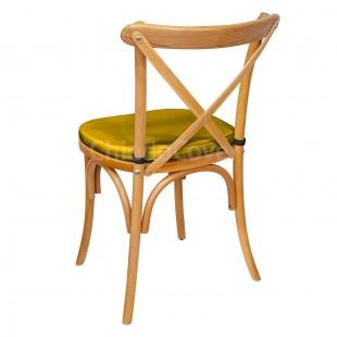 Подушка 01 для стула Кроссбэк, 3см, золотая