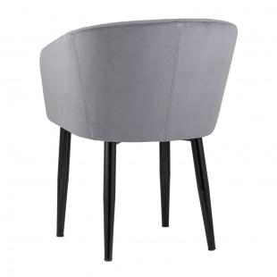Кресло Ральф серая рогожка